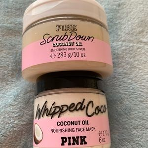 VS PINK Coconut oil body scrub and face mask